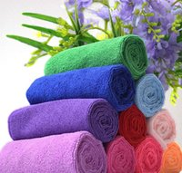 Wholesale 30 cm Top Microfiber Cleaning Cloth Travel Cloths Hand Towels Microfibre Hair Drying Towel Ultra Absorbent
