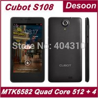 SG post) Cubot originale S108 MTK6582 Quad Core 512MB 4GB 4,5 pollici IPS schermo Android 4.2 Smart Phone Dual telecamere 3G GPS / Maksim