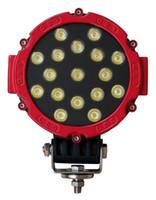 30 Degree 7 6000K High Quality 7 Inch 51W LED Driving Light 17pcs*3W Waterproof Pass CE ROHS EMC Motorcycle Lighting fog light