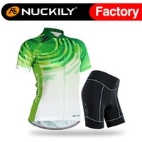 best womens bicycle - Nuckily Womens bicycle green special jersey set with pad China best selling with high quality ladies jersey suit GG005 NS359