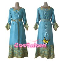 Wholesale the sleeping beauty Aurora pricess Marlene Phillip Dress for girls women Cosplay Costume for kids Adult party
