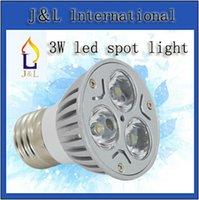 3W mr16 3w - Fedex V W MR16 GU10 E27 Hight power White Warm white LED Light Led Lamp Bulb Spotlight Spot Light