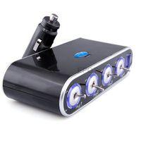 Wholesale NEW Way Port Car USB Cigarette Lighter Socket Splitter Charger Adapter LED Switch