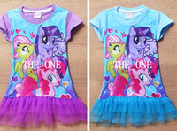 Cheap girls my little pony dress girls dresses tutu 3D Printer Vestidos Infantis cartoon my little pony princess girl cotton tutu dress in stock