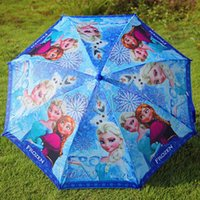 Wholesale New Frozen Cute Cartoon Frozen Umbrella Rain and Sun Proof Frozen Princess Elsa Anna Olaf Children Umbrella cm Frozen Series