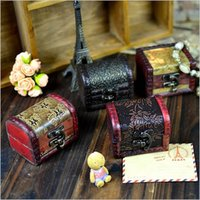 Bedding best alps - 2015 New arrival Hot sale best quality Vintage Retro Handmade Small Wood Storage Box Case Vintage Wooden Stamp Flower Metal Lo