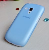 Cheap 0.5mm Thin Slim Crystal Frosted Matte Transparent Clear Hard Case Cover for Samsung Galaxy S3 Mini i8190 Free Shipping DHL MOQ:1000pcs