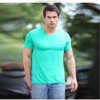 bamboo fabric shirts - Bamboo Fiber Men s Summer V neck T shirt Slim Male Sports Short Sleeved T shirt Men Bottoming Shirt Using Antibacterial Bamboo Fiber Fabric