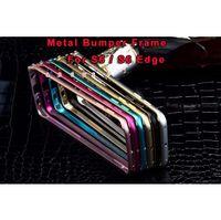 Wholesale Premium Aluminium Metal Bumper Cover Anti Knock Frame Case for samsung galaxy s6 Edge Samsung Galaxy S6 Ultra Thin Slim colors