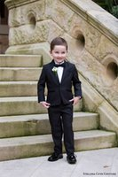Wholesale Shirts For Boys Jacket - Cute Couture 2016 Children Occassion Wear Page Boy Tuxedo for Boys Toddler Formal Suits (Jacket+Pants+Bow+Shirt) Boy's Formal Wear