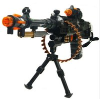Wholesale 2014 plsatic machine gun nerf electronic guns toys for boys with sounding and flashing outdoor fun sports new sale