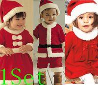 Cheap New 2013 baby winter romper clothing sets+Hat Long Sleeve newborn rompers christmas boy girl dress autumn -summer chlid kid Sam