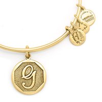 ancient copper - G g initial Alex and Ani Letter Expandable Electroplate gold and silver restore ancient ways Positive Hard body Bangle