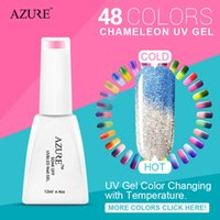 azure nail polish - Azure UV gel nail art color changing with temperature nail polish high quality nails gel colors resin gel