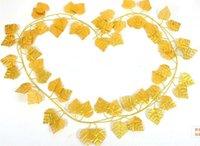 Wholesale Golden Rattan Simulation Flower Family Decoration Flowers Plastic Flower Wedding Party Flower Rattan
