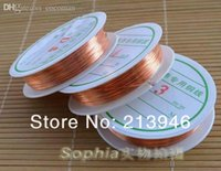 Al por mayor (Plz Elija 1 Tamaño 0.3 / 0.4 / 0.5 / 0.6MM) Tono 5 x Rojo Cobre Cables de cobre esmaltado Cuerdas joyería de DIY accesorios de los resultados