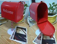 metal mailbox - new arrival photo props home decoration Mailbox with stand Storage for Letter Box greeting post card