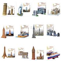 al games - 10 models Optional Intelligent Game Carboard Jigsaw D Puzzle Burj Al Arab DIY Educational Birthdays Toy for kids Tower Bridge