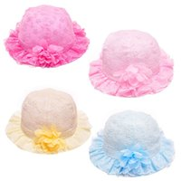 Cheap Stylish Fashion 2015 Summer outdoor Children Hat Baby Cotton Hollow Out Embroidery Cap Fisherman Bucket Hats