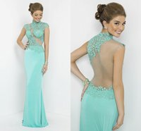 Cheap long tight prom dresses Best Lime Green Evening gowns
