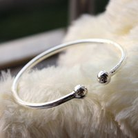 allergy to silver - 999000 fine silver sterling silver bangle bracelet beautiful aura Jewelry mixed batch of allergy Elegant fashion gift to send his girlfriens