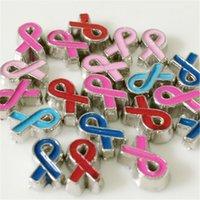 aids ribbon color - 20PCS quot AIDS Ribbon quot Floating Charms DIY Floating locket Charms Mix Color Fit Floating lockets Floating locket bracelets FC006