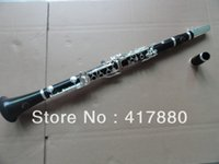 Wholesale Factory Professional performance drop B tuning red sandalwood ebony clarinet Clarinet silver plated keys