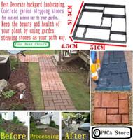 Wholesale cm Garden DIY Plastic Path Maker Model Road Paving Cement Mould Brick Stone Road