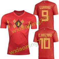 b171ea83922 2018 Belgium Jersey soccer national team Home hazard 17 18 lukaku  Nainggolan De Bruyne Dries Mertens Batshuayi footbal SHIRT maillot de foot