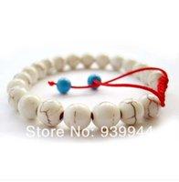 Wholesale new mm white Turquoise beads shamballa bracelets for girls women