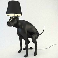 Wholesale America creative style resin black dog floor lamp to decorate the living room mart