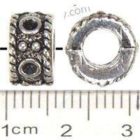 antique food cans - Jewelry Components Charms Round Beads Pandora Bracelets DIY Large Hole Can Set Crystal Antique Silver Metal mm For Crafts Making
