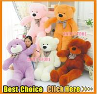 Wholesale Giant Teddy Bear Colour Dolls Toy cm cm cm cm Big Bears Plush Toys Each Feast To Friend Favorite Gift Child s Gift Shop