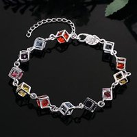 Wholesale Best Christmas gift new arrival sterling silver Multicolor beautiful bracelet bangle