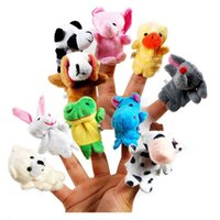 Wholesale Finger Puppet Sale Plush Toys Baby Plush Toy Soft Velvet Farm Animal Finger Puppets Helpers Talking Props Animal Group