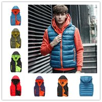 Wholesale Men s Casual Slim Fitting Zipper Hoodie Vest Candy Color Sleeveless Coat