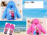 Wholesale 18 OFF Free EMS Frozen princess Elsa Children Outerwear coats Brand Cartoon Jackets Winter Autumn Baby Kids Hoodies Girls Clothing15pcs OY