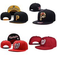 Wholesale Hip Hop snapback Pirates Baseball Caps MLB Sports Bone Pittsburgh Women Hats Men Nationals gorras Caps Casual Washington