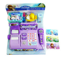 Wholesale Cash Register Multi function Voice Glowing Play Educational Toys Hot Sale Children Gifts NEW for Frozen