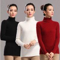 Women winter sweater for women - Turtle Neck Stripe Mink Cashmere Pullover Sweater For Women Autumn Winter Knitting Slim Jumper Fashion Sweater Pullover Cashmere L008