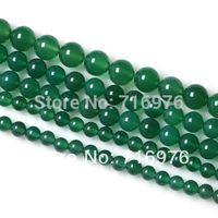 venta al por mayor 6 8 10 12 12 mm suave Ronda verde cuentas de ónix ágata 15.5inch / hebra de recogida Tam Envío-F00058