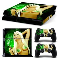 Cheap 100 pcs Sexy Smoking PS4 Decals PS4 Skin Vinyl Stickers 1 Console Skin+2 Controller Stickers
