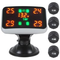 Wholesale Real time Digital Car Tyre Pressure Temperature Monitoring System Support Tyres Display CEC_767