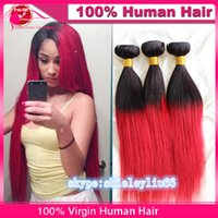 Cheap two tone Burmese hair weave Best silky straight Burmese hair weave