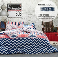 Cheap New Cotton Home Textile Bedding Set Denim Style Double Quilt  Bedspread Solid Bed Sheet Duvet Cover Shipping Free
