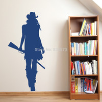 american west art - ome Decor Wall Sticker Cowgirl cowboy west silhouette Wall Art Stickers Decal Home DIY Decoration Decor Wall Mural Removable Bedroom Stic