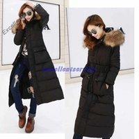 Cheap Winter Women Fashion Long Thick Warm Down Cotton Jacket Women Plus Size High Quality Fur Collar Slim Coat Women Overcoat Parka