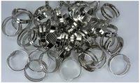 base metal jewelry supplies - 50Pcs Adjustable Metal Blank Rings Base Findings DIY Supplies Pad Jewelry Making DIY Z245
