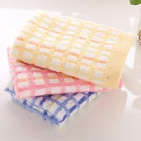 Wholesale Gifts Package Home Hand Towel Soft Cotton Plaid Bathroom Cold Face Towels Hypothermia Cooling Towel JQ0011