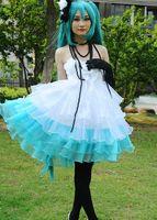 anime cocktails - VOCALOID Lolita MIKU Cosplay Set Cocktail costume dress